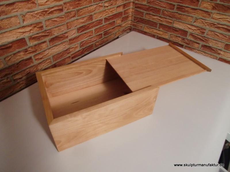 Kiste mit Schiebdeckel, Kiefer