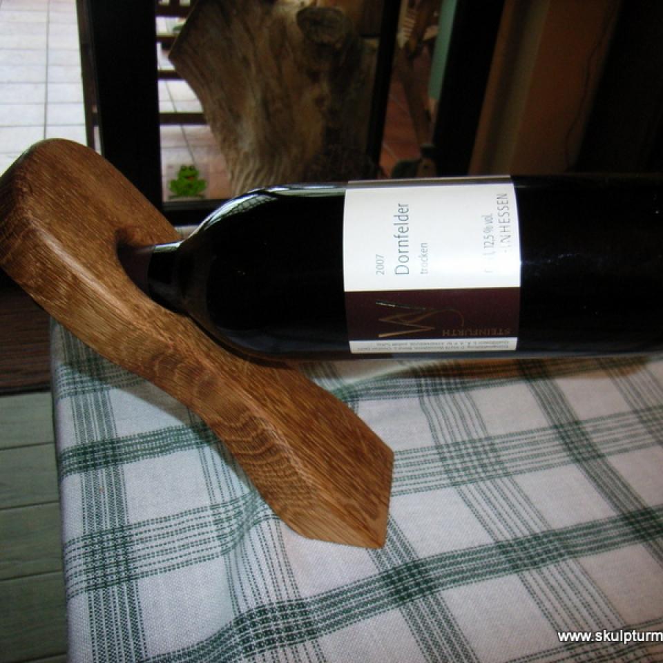 Weinflaschenhalter, Eiche