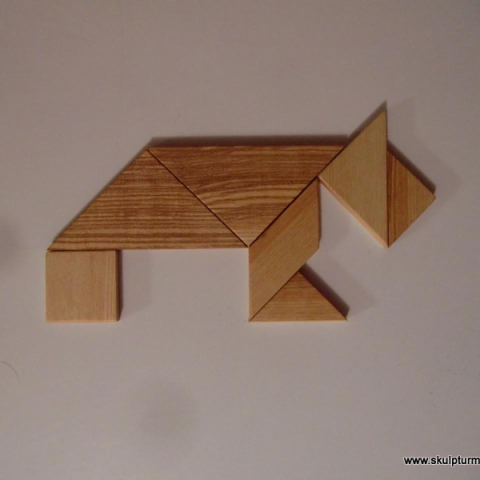 Tangram Hund, Esche