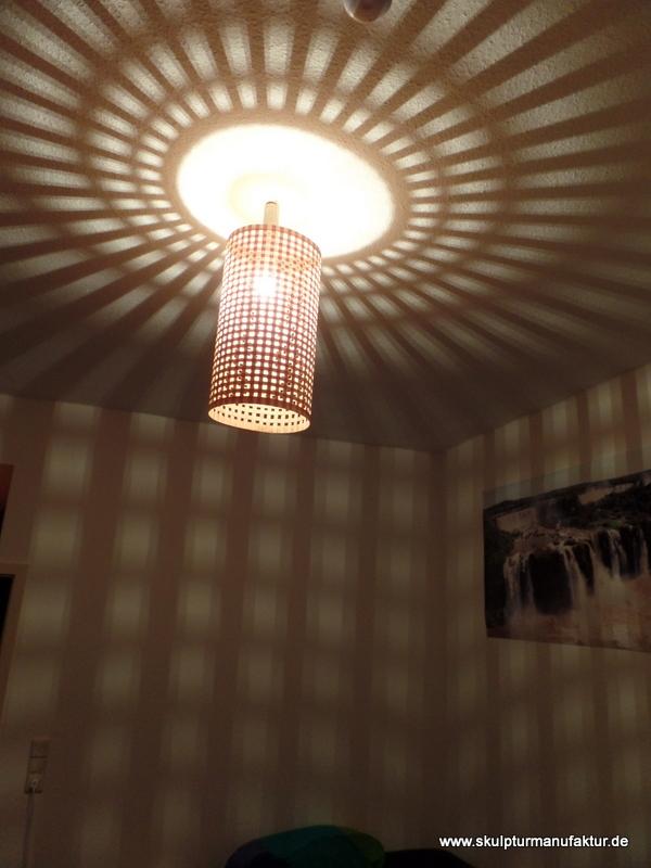 Deckenlampe, Ahornfurnier