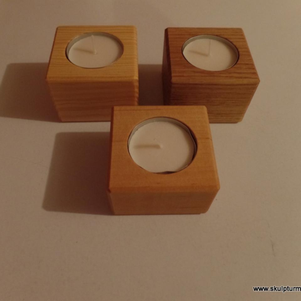 Kerzenständer, Eiche,Kiefer,Birke